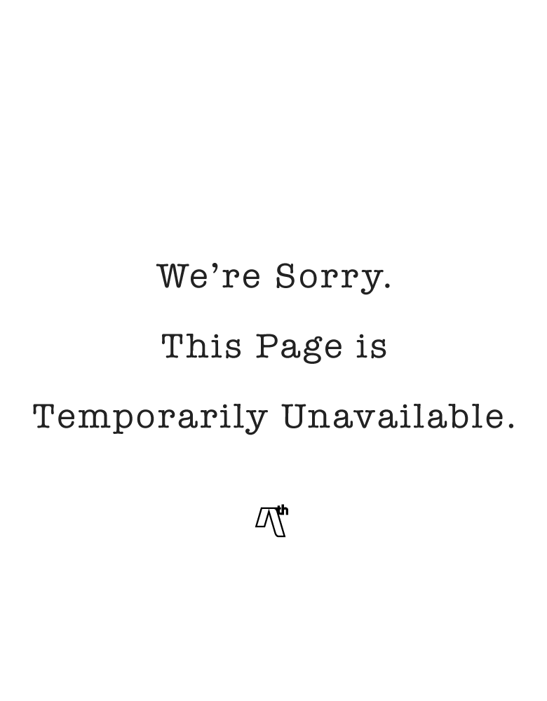 We're Sorry. This Page is Temporarily Unavailable.